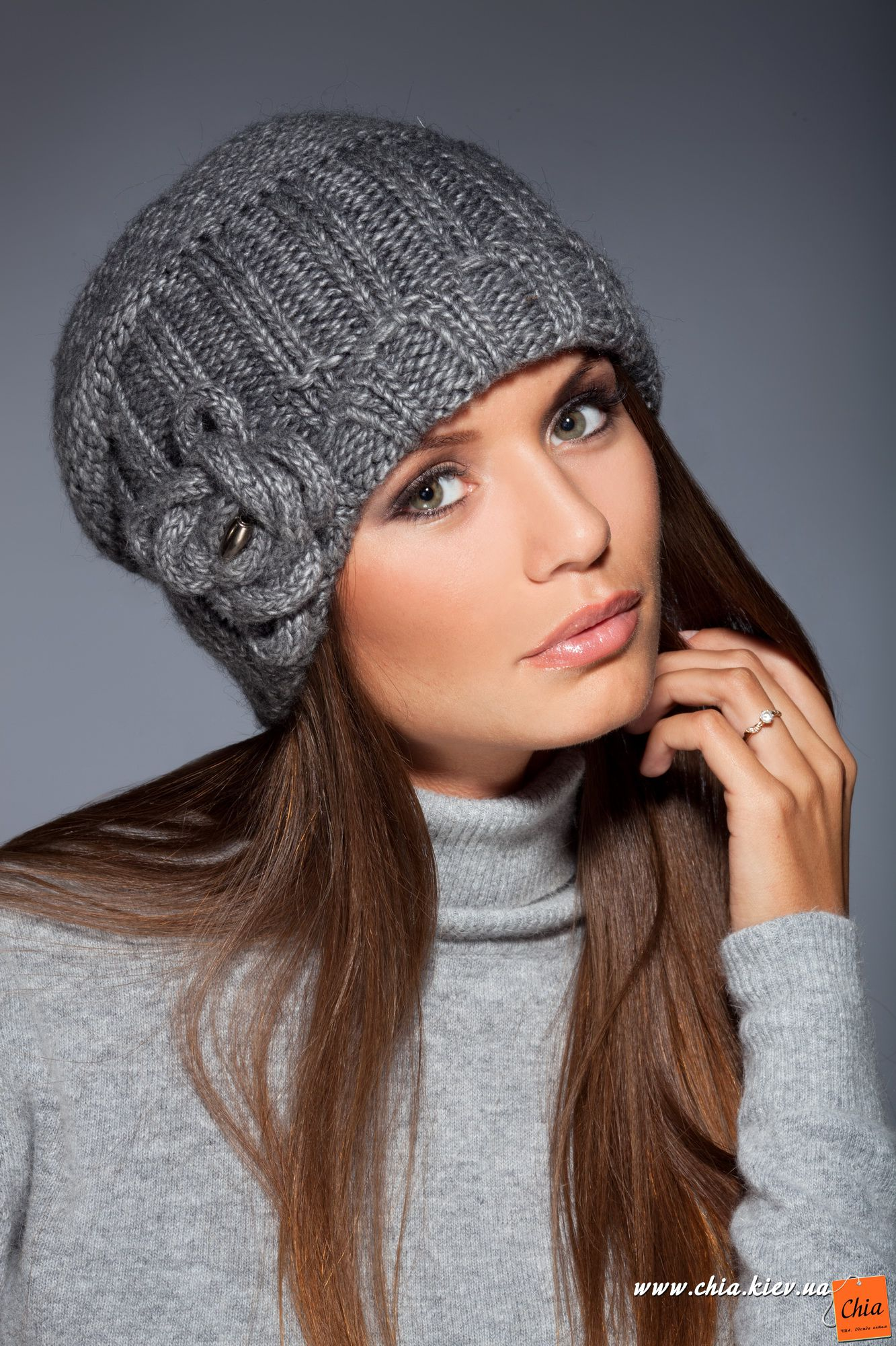 Вязанные шапки женские зима 2015 2016 своими