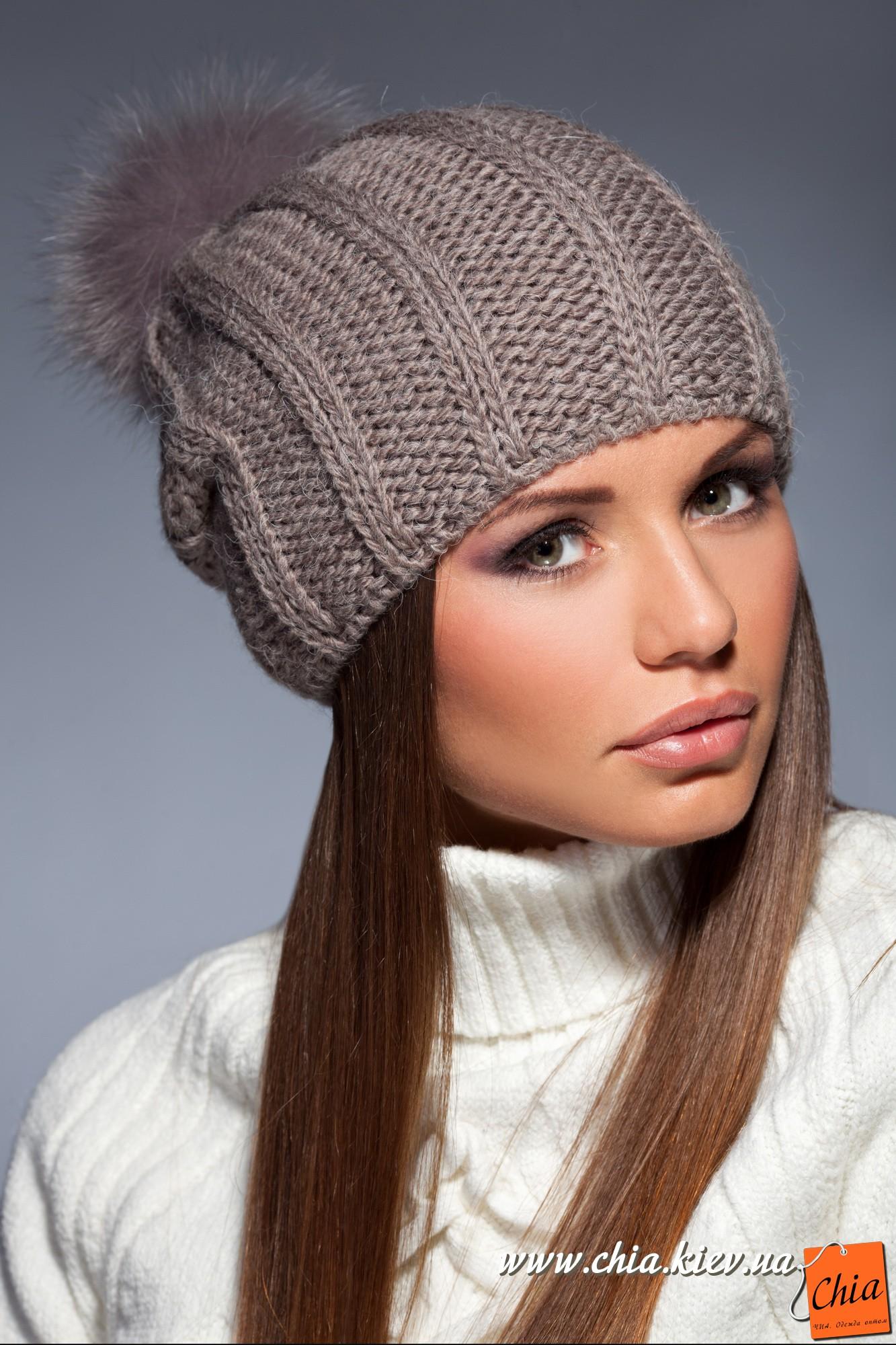 Фото вязание зимних шапок спицами женские