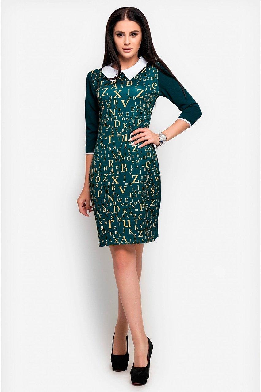 Velurs: Платье с буквенным принтом 1018 - фото 1