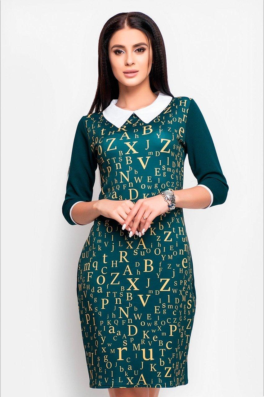 Velurs: Платье с буквенным принтом 1018 - фото 2