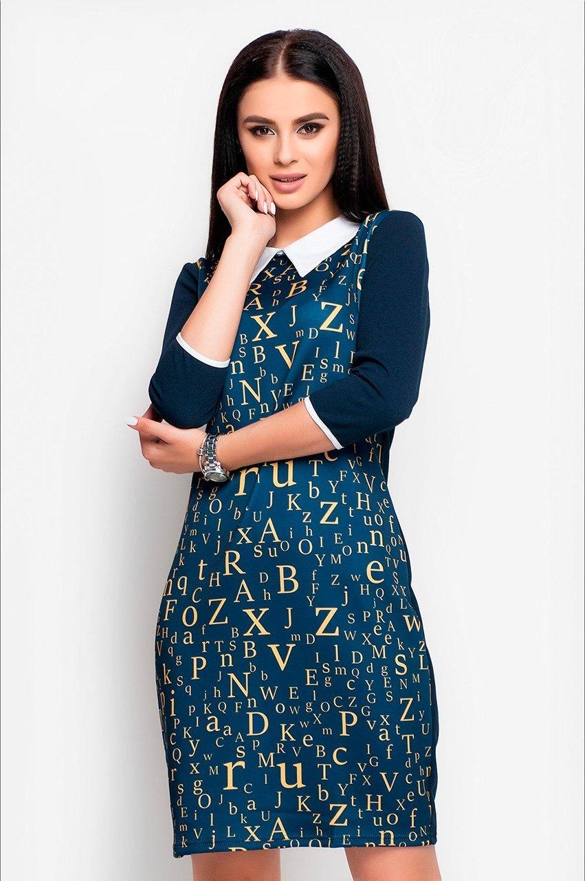 Velurs: Платье с буквенным принтом 1018 - фото 4