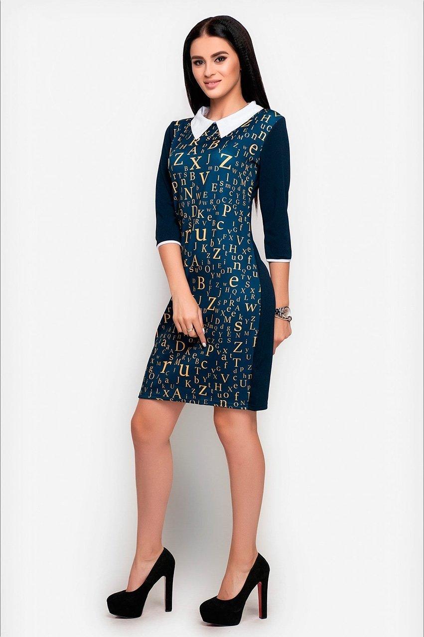 Velurs: Платье с буквенным принтом 1018 - фото 5