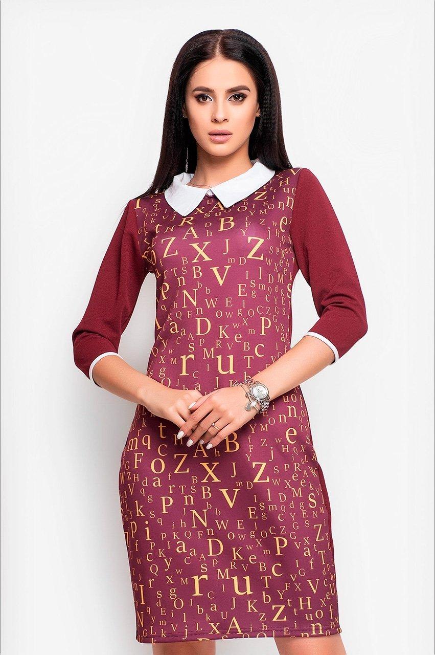 Velurs: Платье с буквенным принтом 1018 - фото 7