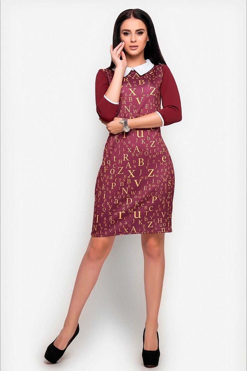 Velurs: Платье с буквенным принтом 1018 - фото 8