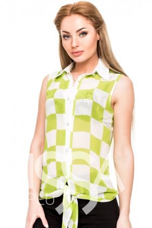 ISSA PLUS: Блузы 3179_салатовый - фото 1