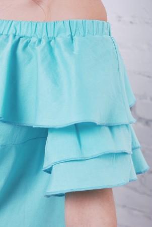 TessDress: Платье с открытыми плечами «Шампань» 1465 - фото 3
