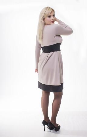 0c4121e6126b Платье 03-002 цветов черный/бежевый, черный/теракотовый от