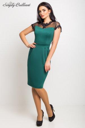 Simply brilliant: Платье Селена03_темно_зеленый - фото 1