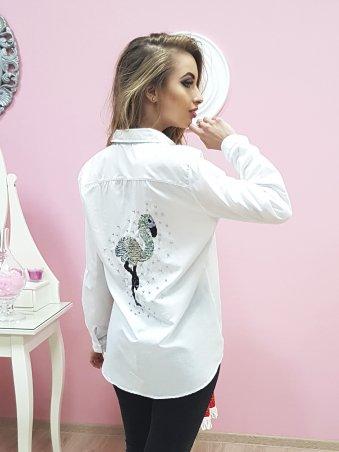 Paetka: Рубашка с трендовой вышивкой и жемчугом 651 - фото 1