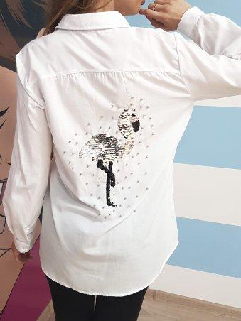 Paetka: Рубашка с трендовой вышивкой и жемчугом 651 - фото 2