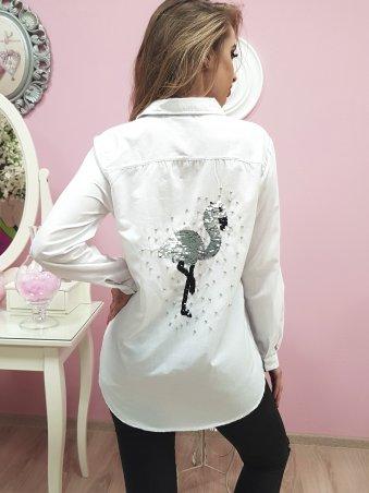 Paetka: Рубашка с трендовой вышивкой и жемчугом 651 - фото 5