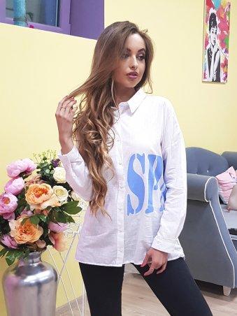 Paetka: Рубашка из льна с эффектной надписью 650 - фото 5