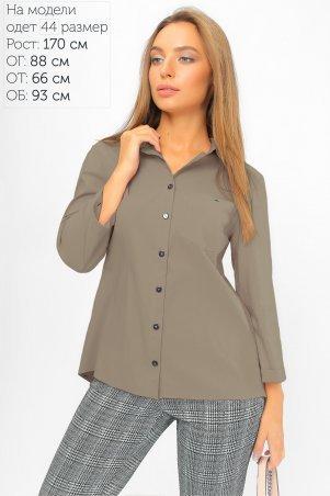 LiPar: Рубашка с асимметричной спинкой Бежевая 2107 бежевый - фото 1