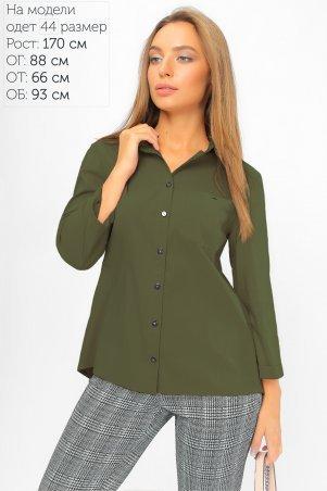 LiPar: Рубашка с асимметричной спинкой Хаки 2107 хаки - фото 1