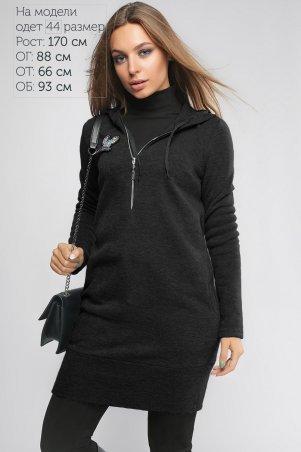 LiPar: Платье-туника Тори Чёрное 3092 черный - фото 1