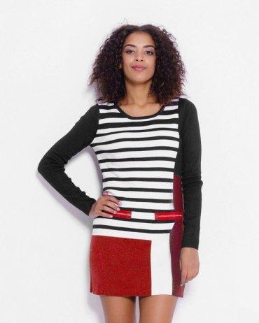 ISSA PLUS: Платья WN-86_черный/красный - фото 1