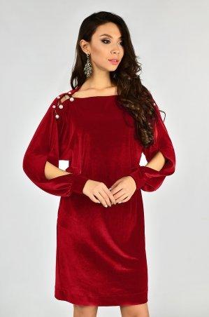 LiPar: Бархатное Платье Красное 3337 красный - фото 1