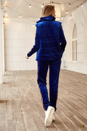 Domenica: Теплый велюровый спортивный костюм-тройка Р 2377 - фото 2