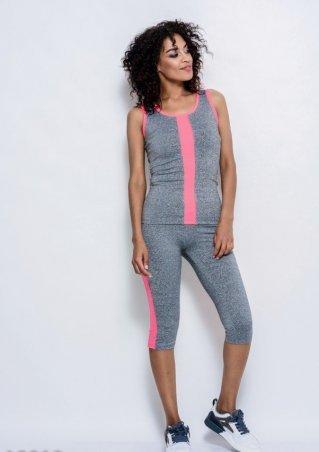 ISSA PLUS: Спортивные костюмы 10010_светло-серый/розовый - фото 1