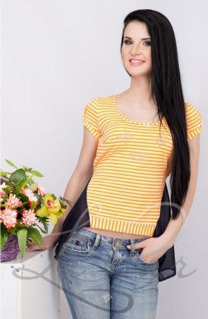 LiPar: Женская майка в полоску Оранжевая 85 оранжевый - фото 1