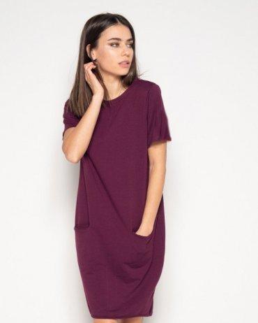ISSA PLUS: Платья 10411_бордовый - фото 1