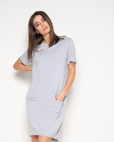 ISSA PLUS: Платья 10411_светло-серый - фото 1