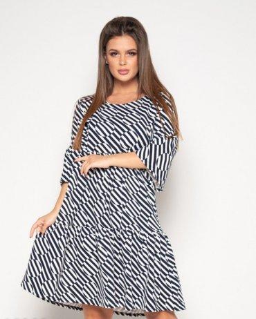 ISSA PLUS: Платья 10382_черный/белый - фото 1