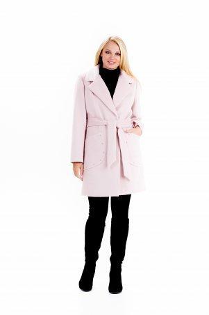 """Vicco: Пальто женское весеннее с поясом """"ALPAKA"""" (цвет розовый) 2390 - фото 1"""