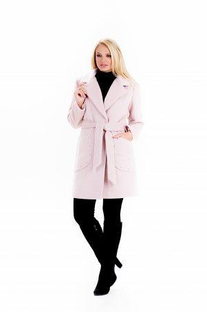 """Vicco: Пальто женское весеннее с поясом """"ALPAKA"""" (цвет розовый) 2390 - фото 2"""