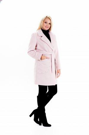 """Vicco: Пальто женское весеннее с поясом """"ALPAKA"""" (цвет розовый) 2390 - фото 3"""