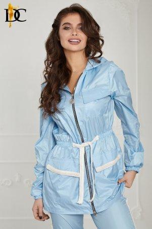 Domenica: Легкий костюм из непромокаемого лаке цвета пудры Р 2486 L - фото 1