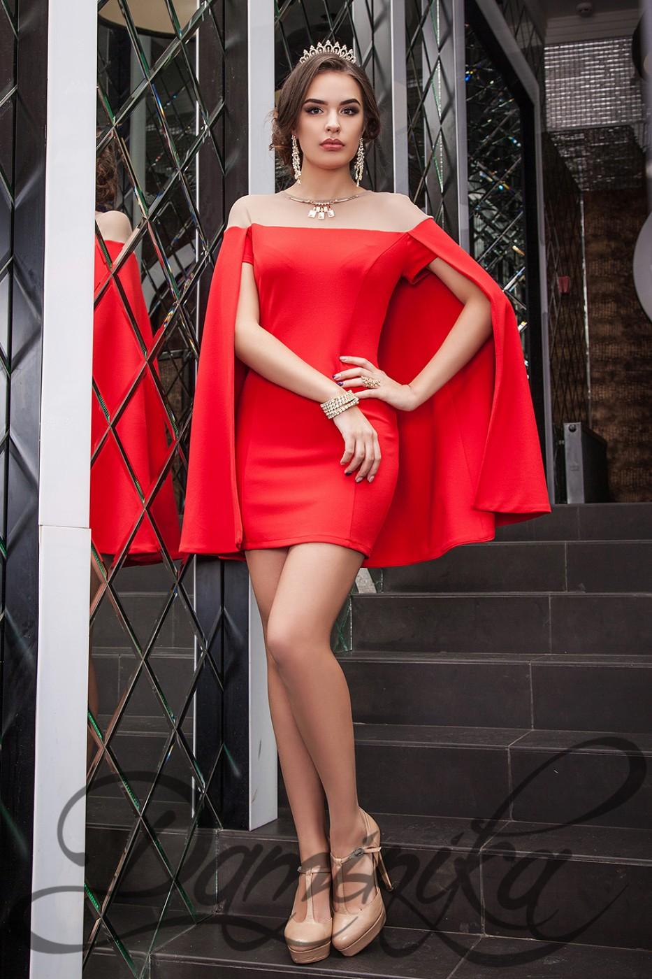 16d50047af3014c ... Daminika: Шикарное коктейльное платье-кейп