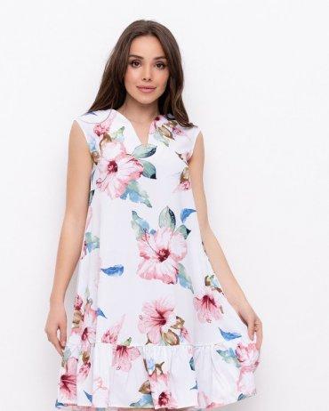 ISSA PLUS: Платья NB-307_белый - фото 1