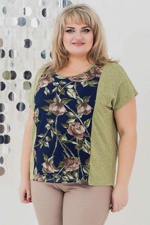 V&V: Рубашка Батик роза оливка 531Б-2 531Б-2 - фото 1