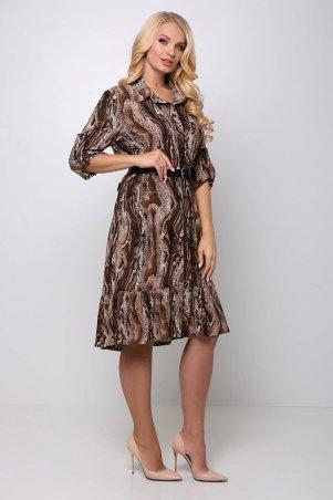 Tatiana: Платье с застежкой спереди ПЕРИС коричневое - фото 2
