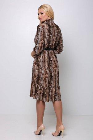 Tatiana: Платье с застежкой спереди ПЕРИС коричневое - фото 3