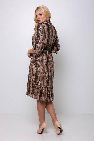 Tatiana: Платье с застежкой спереди ПЕРИС коричневое - фото 4