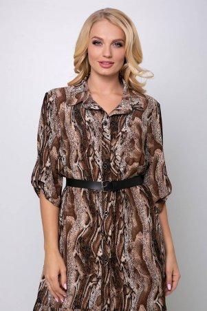 Tatiana: Платье с застежкой спереди ПЕРИС коричневое - фото 5