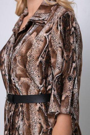 Tatiana: Платье с застежкой спереди ПЕРИС коричневое - фото 6