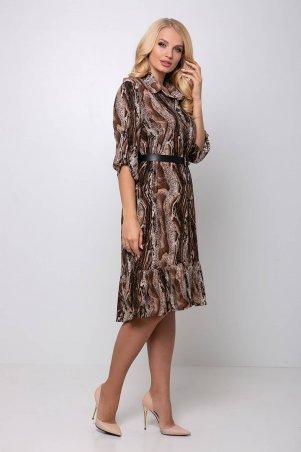 Tatiana: Платье с застежкой спереди ПЕРИС коричневое - фото 7