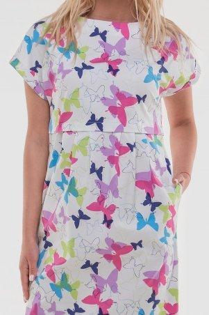 V&V: Платье 2832.9 белое с малиновым 2832.9 - фото 2
