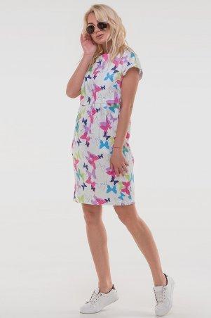 V&V: Платье 2832.9 белое с малиновым 2832.9 - фото 3