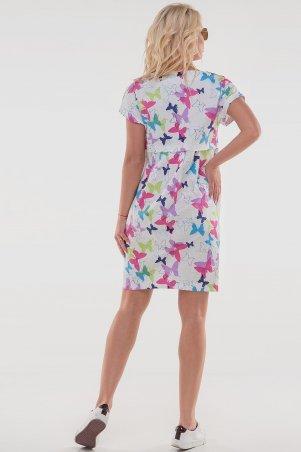 V&V: Платье 2832.9 белое с малиновым 2832.9 - фото 4