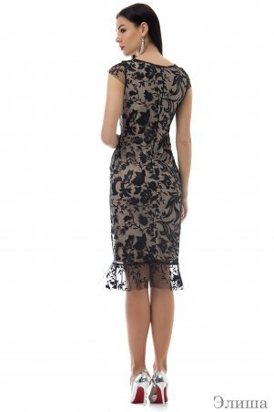 Angel PROVOCATION: Платье Элиша черный +беж - фото 2