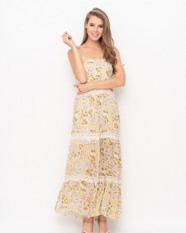 ISSA PLUS: Платья WN9-98_желтый - фото 1