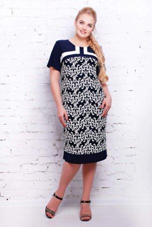 Tatiana: Платье из трикотажа ВЕНЕЦИЯ темно-синее - фото 1
