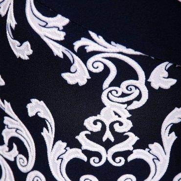 Tatiana: Платье из трикотажа ВЕНЕЦИЯ темно-синее - фото 3