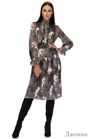 Angel PROVOCATION: Платье Джемма принт на сером - фото 1