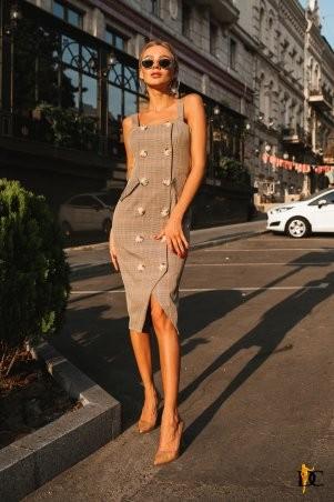 Domenica: Платье-сарафан с пуговицами - Р 2581 L - фото 1