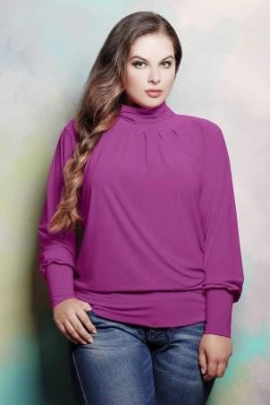 Tatiana: Гольф со сборкой на горловине СБОРКА темно-розовый - фото 1